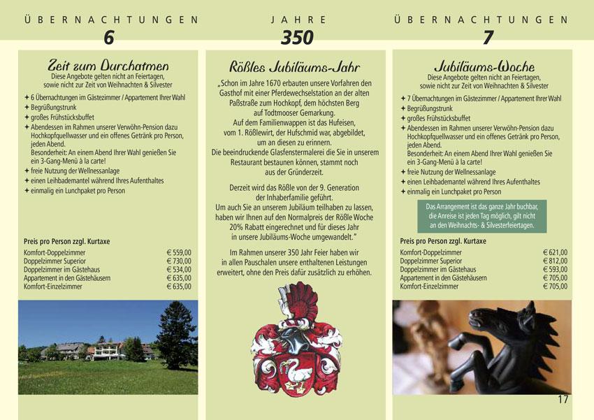 Brochure Black Forest Hotel Rossle Todtmoos
